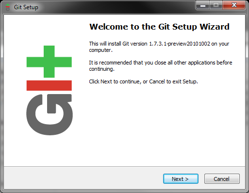 Installation de git
