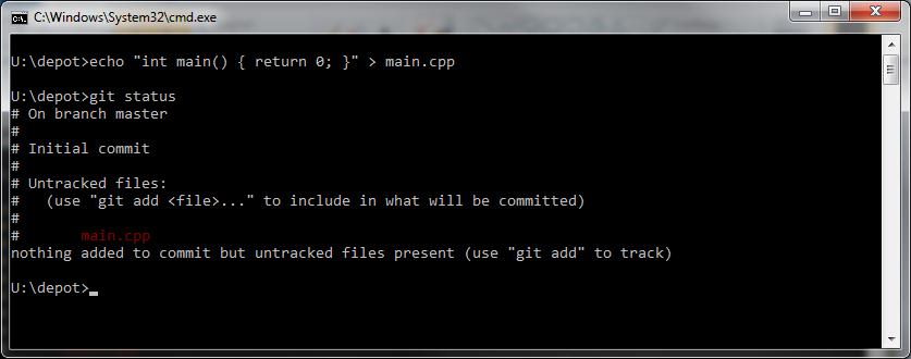 Création d'un fichier à ajouter au dépôt